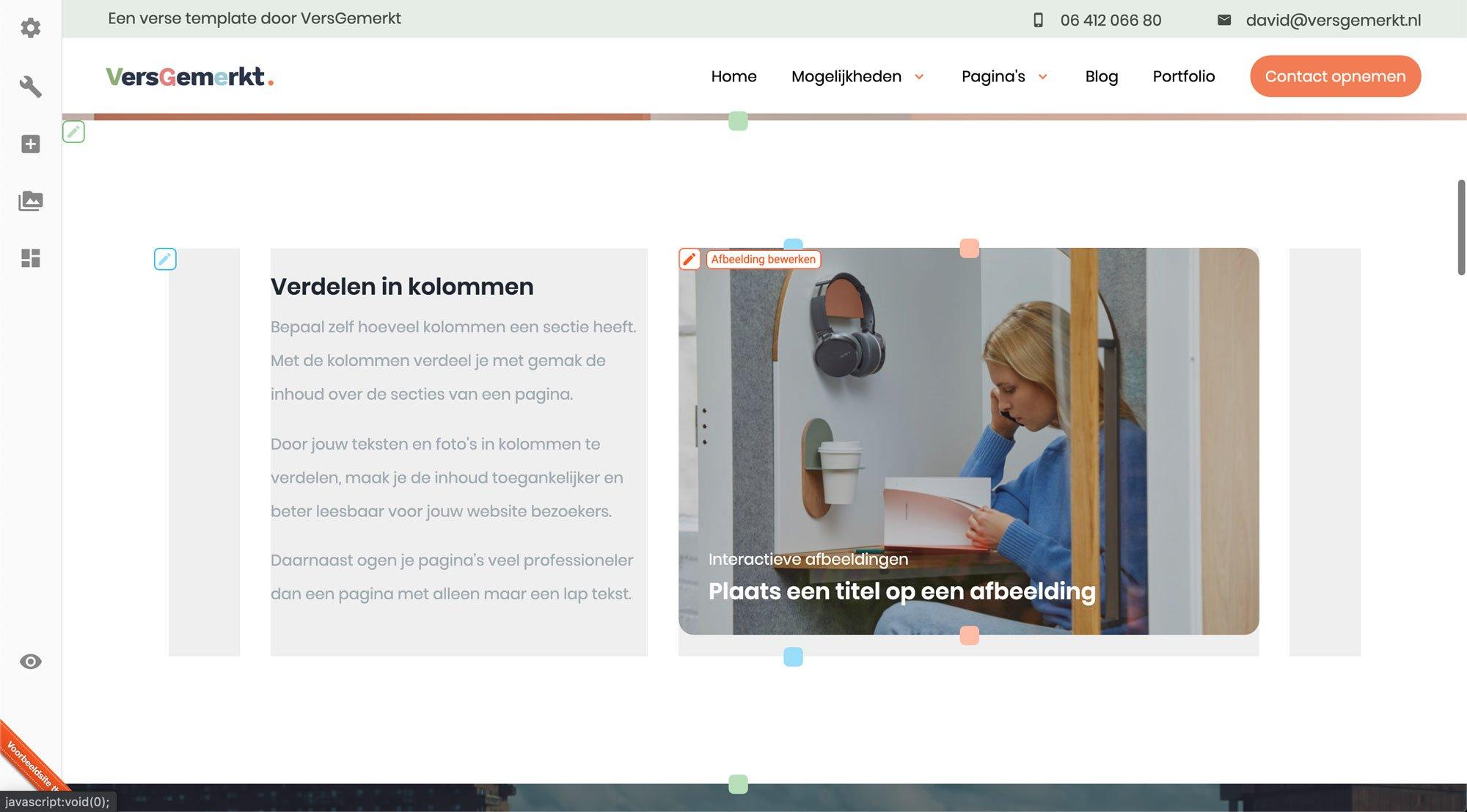 VersGemerkt Afbeelding bewerken Verse Website