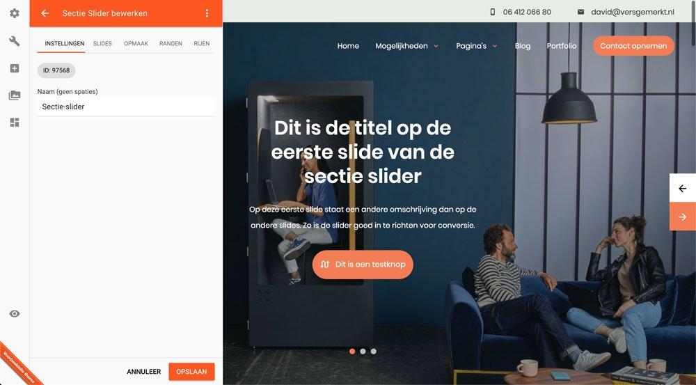 VersGemerkt Plate Verse Website Sectie Slider